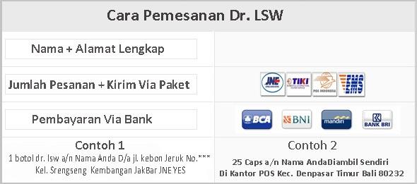 cara pesan dr. lsw whitening